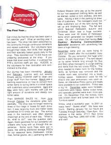 2011 Hospice News Thrift Shops First Year Article